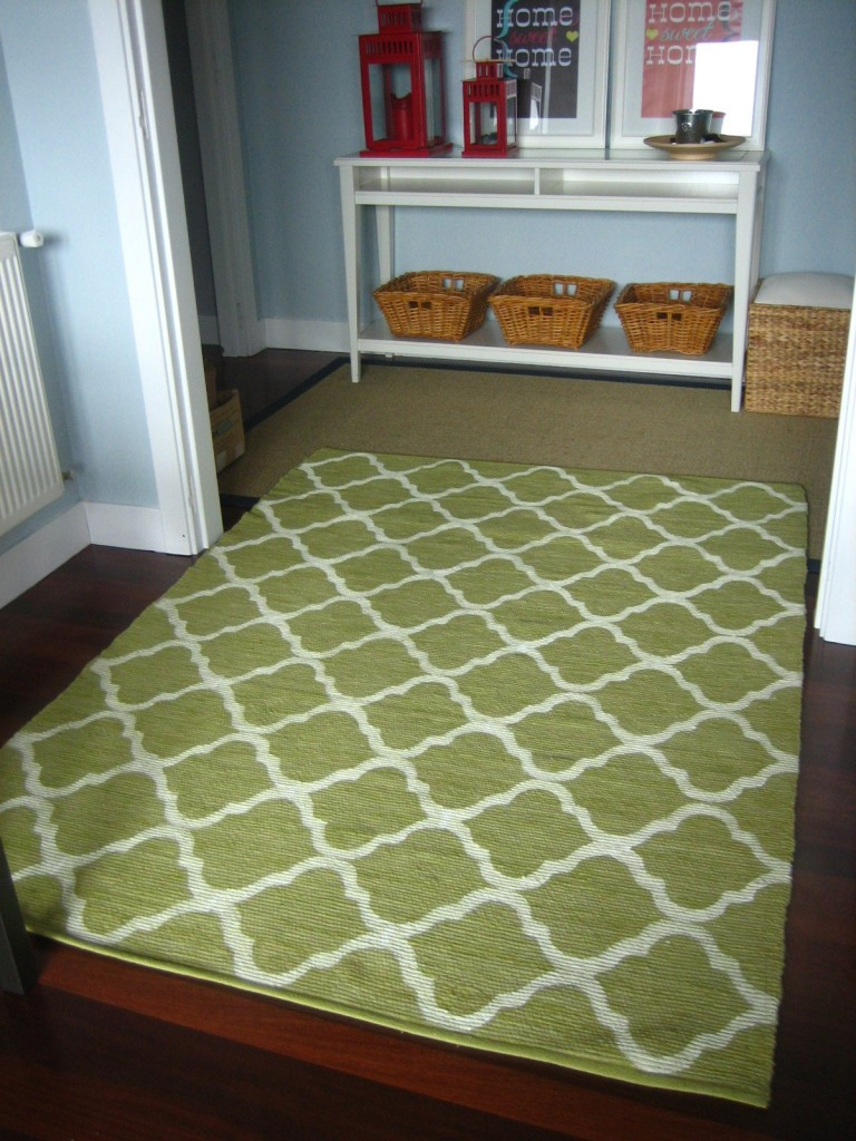 Easy DIY painted rug