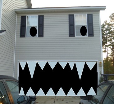 Turn Your House Into A Spooky Face For Halloween Sheekgeek