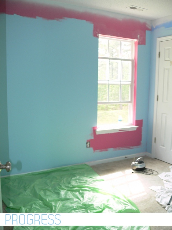 Craft Room Paint Job 1