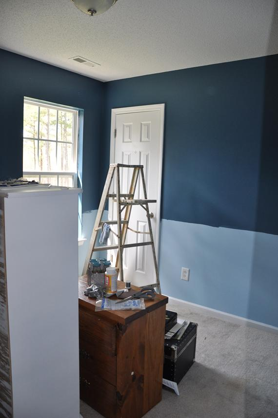 Craft Room Turns Darker Blue