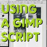 using a gimp script
