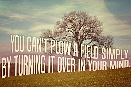 plow a field