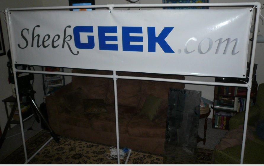 Custom pvc banner holder for about sheekgeek